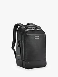 Briggs And Riley Atwork Medium Leather Backpack Black