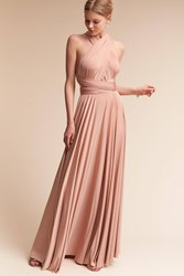 Anthropologie Ginger Convertible Maxi Wedding Guest Dress Nude