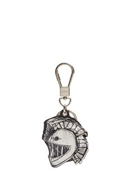 Burberry Helmet Leather Key Ring Black Multi