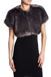 Parker Donnelly Faux Fur Shawl Gray