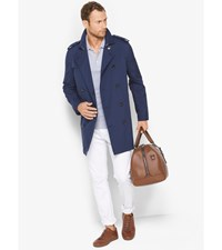 Cotton Blend Trench Coat Midnight