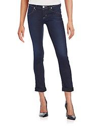 Hudson Cropped Straight Leg Jeans Paradise Blue