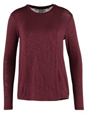 Bench Enunciation Long Sleeved Top Dark Red