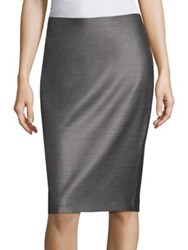 Max Mara Leale Wool Skirt Dark Grey