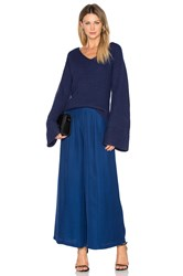 Finders Keepers Frederick Flare Sleeve Knit Blue