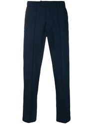 Gcds Contrast Stripe Side Panelled Trousers Blue