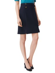 Lk Bennett L.K. Bay Button Detail Skirt Navy