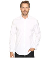 Calvin Klein Yarn Dye Cool Tech Oxford White Men's Clothing