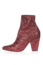Topshop High Sequin Stretch Boots Pink