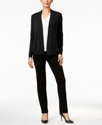 Charter Club Petite Cashmere Open Front Cardigan Only At Macy's Classic Black