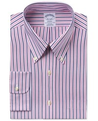 Brooks Brothers Men's Regent Classic Fit Pink Striped Dress Shirt