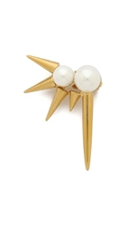 Amber Sceats Liberty Ear Cuff Gold Pearl