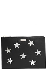 Stella Mccartney Lame Stars Faux Leather Zip Pouch