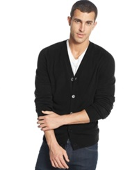 Weatherproof Soft Touch Cardigan Sweater Black