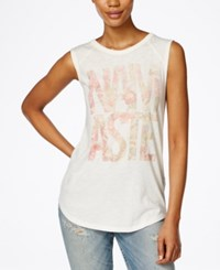 Lucky Brand Namaste Graphic Tank Top Natural