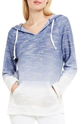 Vince Camuto Women's Two By Ombre Dip Dye Terry Hoodie