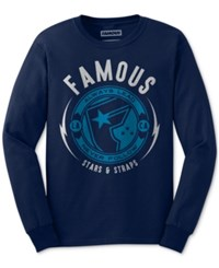 Famous Stars And Straps Men's Graphic Print T Shirt Navy