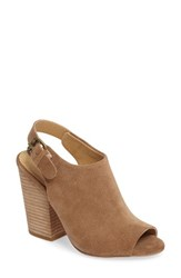 Splendid Women's Kelli Block Heel Sandal Dark Tan Suede