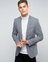 Asos Skinny Smart Blazer In Salt And Pepper Black White Grey