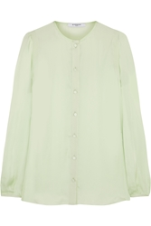 Givenchy Silk Charmeuse Blouse With Back Band