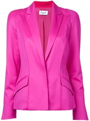 Thierry Mugler Long Sleeved Blazer Jacket Pink Purple