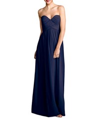 Donna Morgan Laura Solid Strapless Gown Midnight
