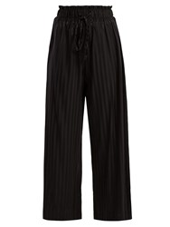 Morgan Lane Simone Silk Blend Pyjama Trousers Black