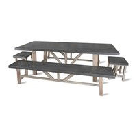 Garden Trading Chilson Table Bench And Stool Set