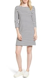 Amour Vert Women's Trista Organic Cotton Dress Ivory Navy