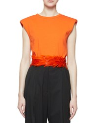 Dries Van Noten Feathered Seat Belt Belt Orange
