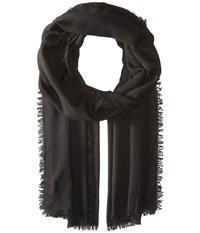 Polo Ralph Lauren Melange Marais Wrap Black Scarves