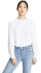 N 21 No. Balloon Sleeve Shirt White