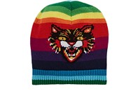 Gucci Men's Oversized Angry Cat Beanie No Color