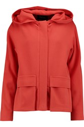 Raoul Hooded Stretch Jersey Jacket Orange