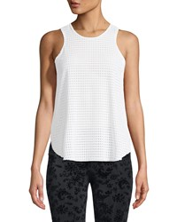 Onzie Molly Mesh Tank With Flyaway Sides White
