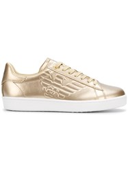 Emporio Armani Ea7 Low Top Sneakers Metallic