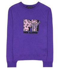 Marc Jacobs Sequinned Cotton Sweatshirt Purple
