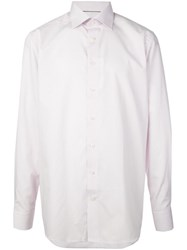 Eton Contemporary Fit Printed Shirt Pink