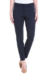 Liverpool Jeans Company Kelsey Knit Pinstripe Trousers Navy