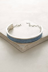 Anthropologie Mary Tweed Choker Necklace Blue