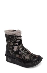 Alegria Women's Twisp Lace Up Boot With Faux Fur Lining Dame Leather