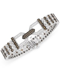 Le Vian Chocolatier Chocolate Deco Estate Diamond 6 1 2 Ct. T.W. Bracelet In 14K White Gold