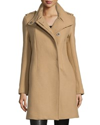 Cnc Costume National Button Front Textured Trench Coat Tan Women's