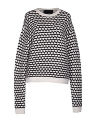 Jay Ahr Sweaters White