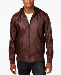 American Rag Men's Hooded Bomber Jacket Only At Macy's Cognac