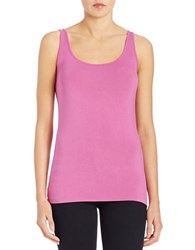Lord And Taylor Iconic Fit Tank Top Purple Orchid