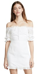 Lost Wander Weekend Getaway Mini Dress White