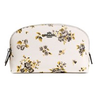 Coach Crossgrain Leather Cosmetic Case 17 Prairie Print
