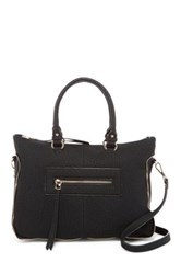 Urban Expressions Alessandra Faux Leather Satchel Black