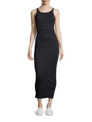 Stateside Slub Ribbed Dress Black